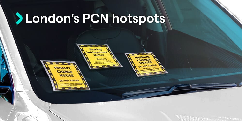 London hotspots for PCN fines - hot areas for penalty charge notices
