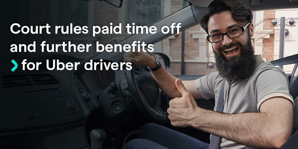 Paid time off, pension plan, and minimum wage for UK drivers