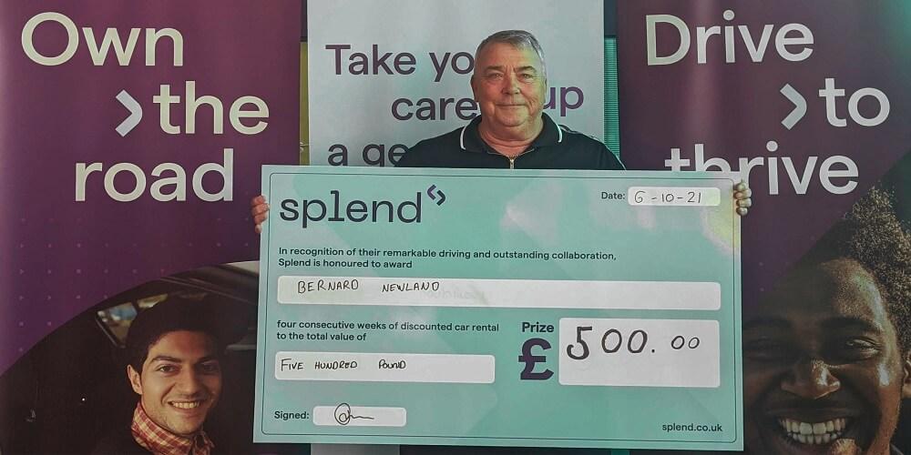 Bernard - £500 September 2021 Member Reward Program